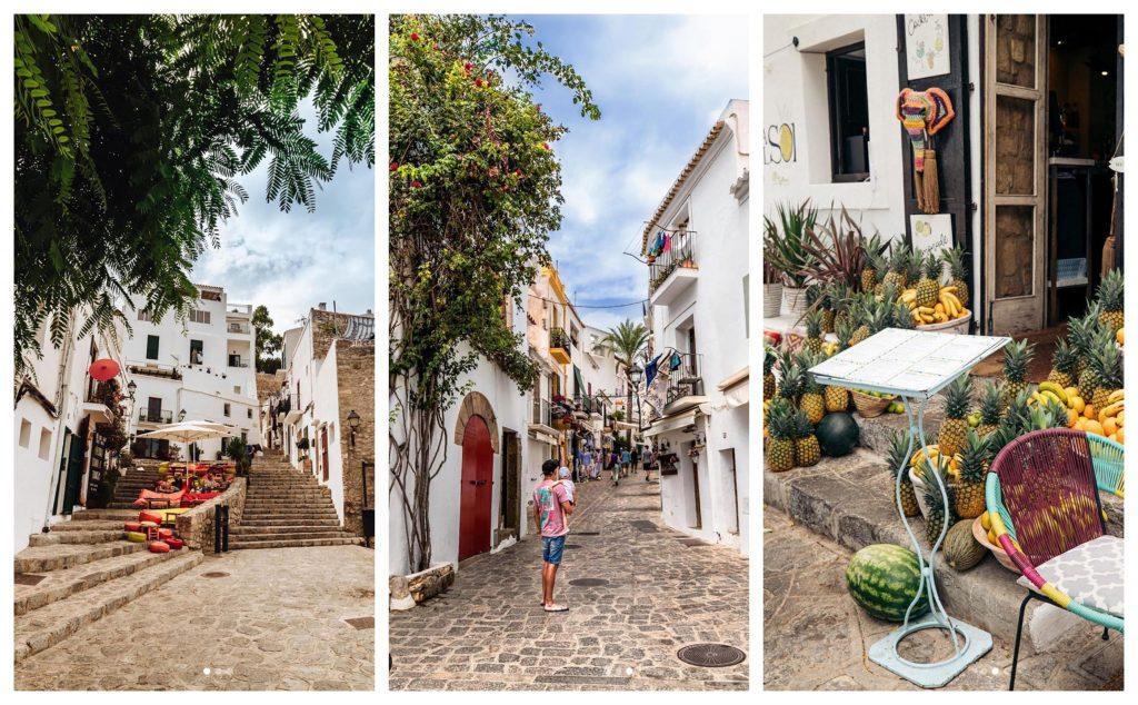 3 immagini prese da Instagram che mostrano Dalt Villa, ad Ibiza, Spagna - AndyBanfi.com